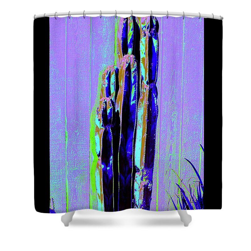 Shower Curtain featuring the photograph Tall Cactus Stand by M Diane Bonaparte