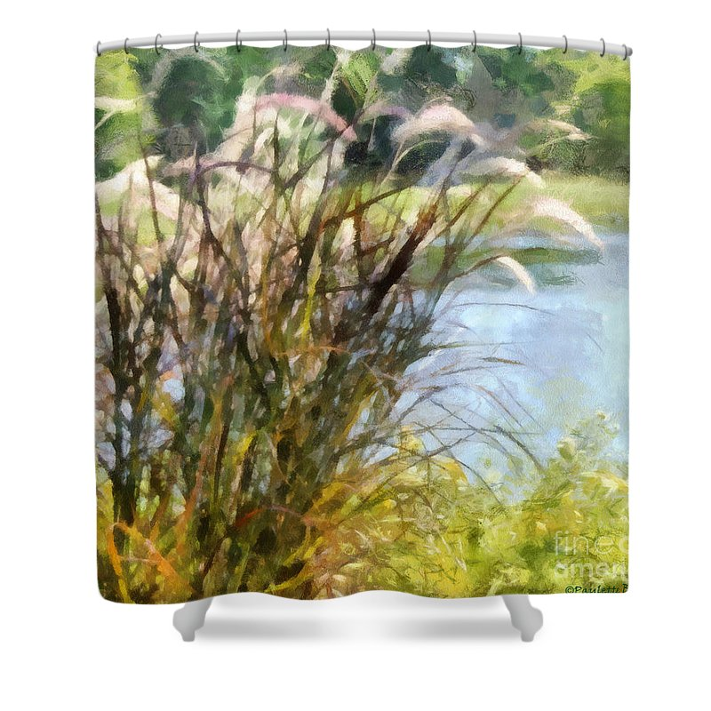Tall Shower Curtain featuring the photograph Tall Grasses by Paulette B Wright