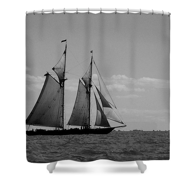Pelican Shower Curtain featuring the photograph Tallship by Michael Thomas