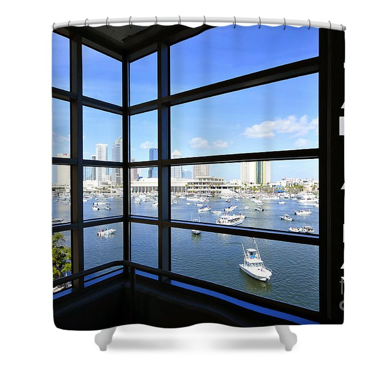 Tampa Bay Florida Shower Curtain featuring the photograph Tampa Bay Florida by David Lee Thompson