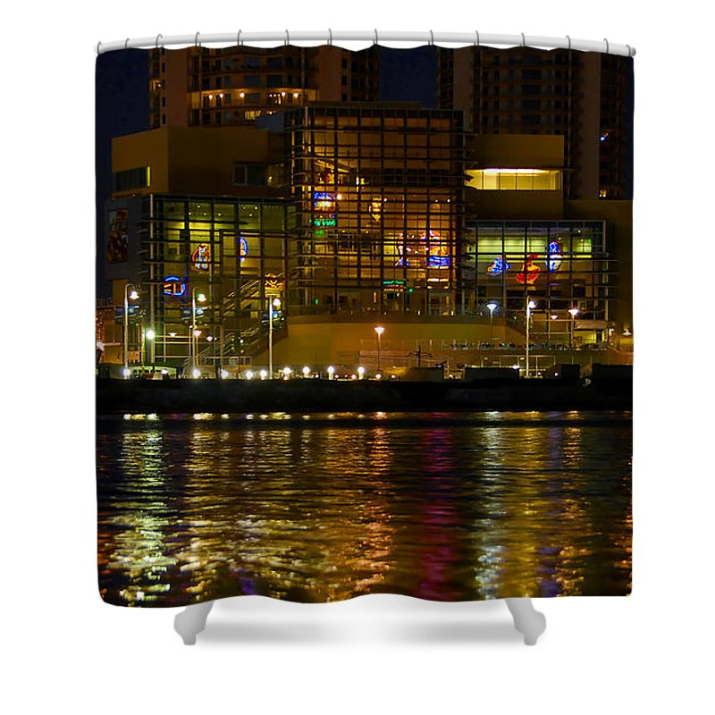 Tampa Bay History Center Shower Curtain featuring the photograph Tampa Bay History Center by David Lee Thompson