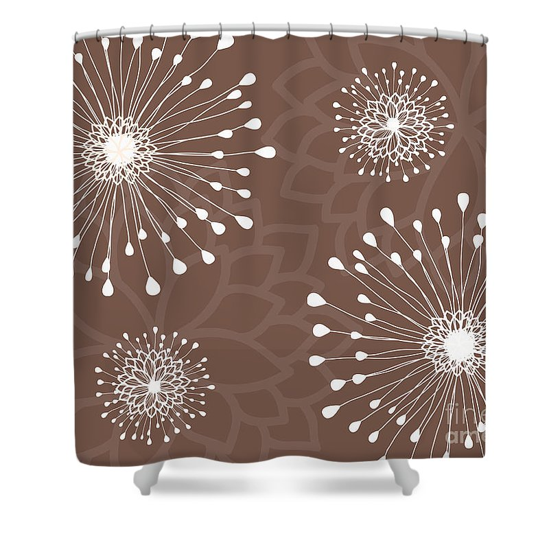 Floral Shower Curtain featuring the photograph Tan Floral by Sharon Johnston