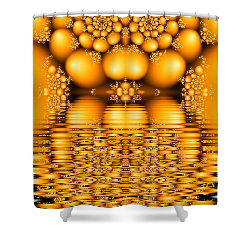 Tangerine Orange Water Sacred Tears Shower Curtain featuring the digital art Tangerine Tears by Veronica Jackson