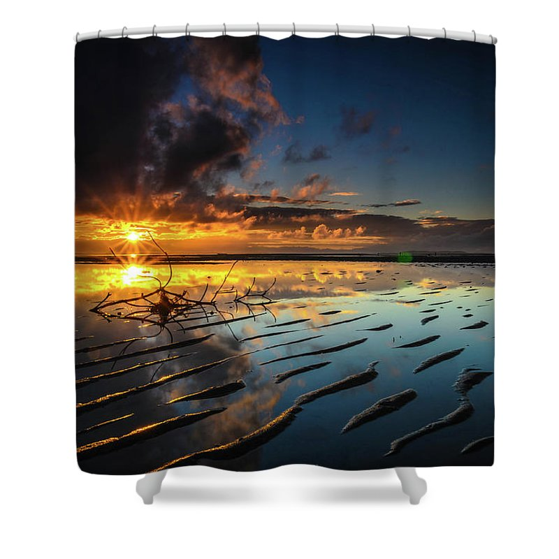 Beach Shower Curtain featuring the photograph Tanjung Aru Beach by Erwin Ussdek