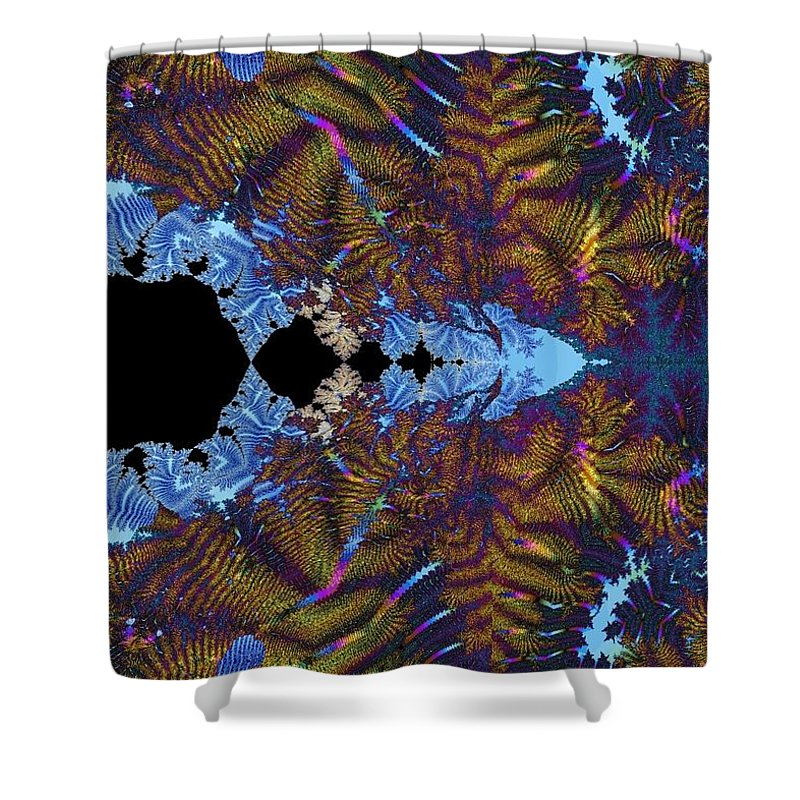 Shower Curtain featuring the digital art Tapestry With Rock by Christopher Jay