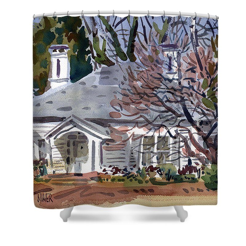 Tapp House Shower Curtain featuring the painting Tapp House by Donald Maier