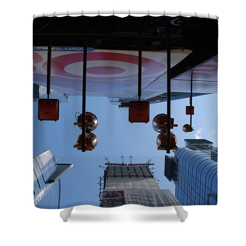 Architecture Shower Curtain featuring the photograph Target Lights by Rob Hans