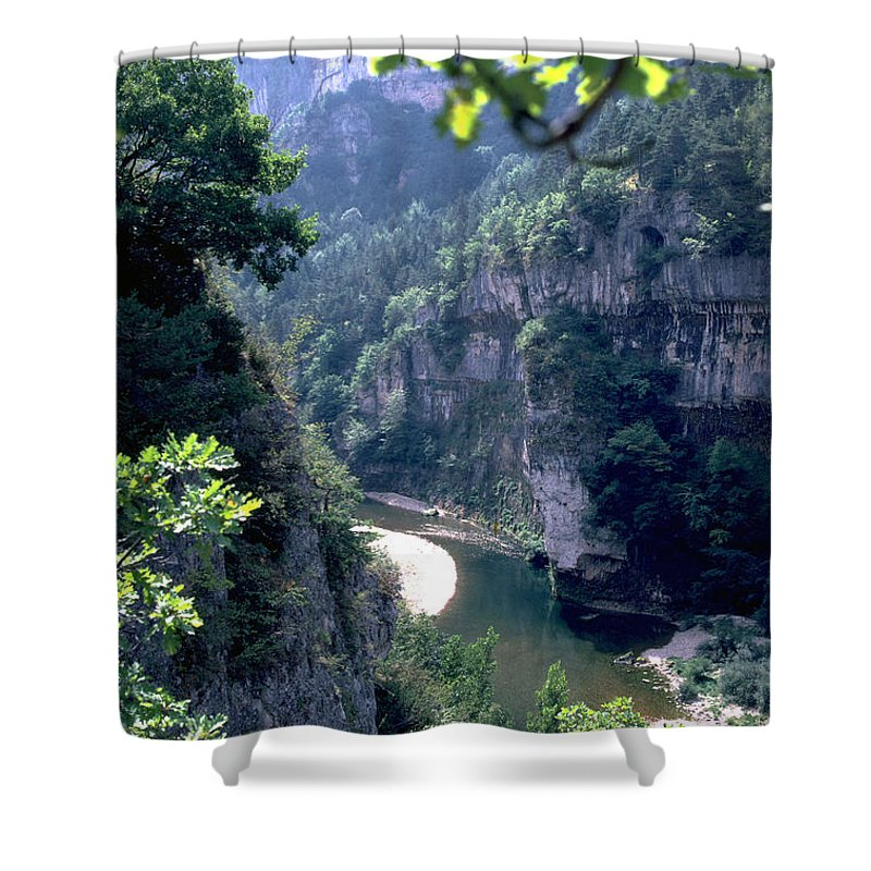 France Shower Curtain featuring the photograph Tarn by Flavia Westerwelle