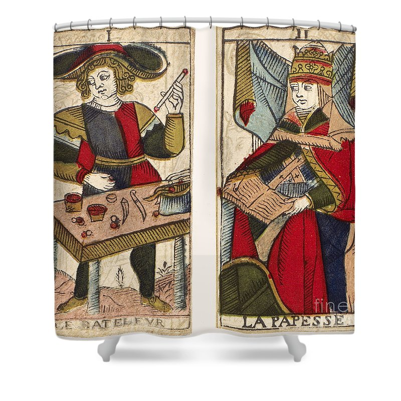 18th Century Shower Curtain featuring the photograph Tarot Cards, C1700 by Granger