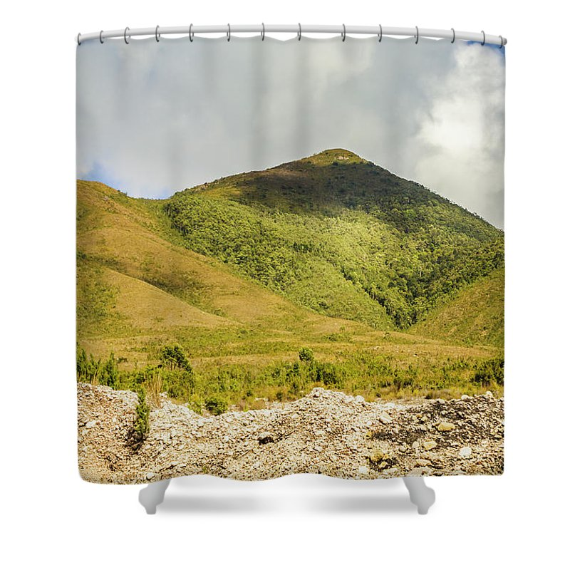 Australia Shower Curtain featuring the photograph Tasmanian Mountains by Jorgo Photography - Wall Art Gallery
