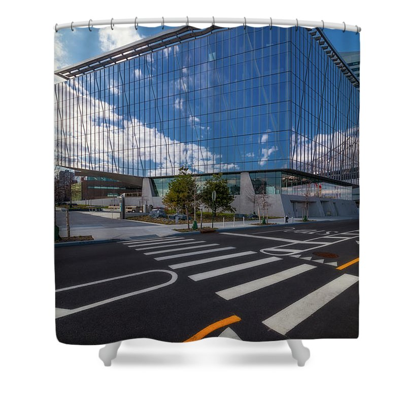 Cornell Tech Shower Curtain featuring the photograph Tata Innovation Cornell Tech Nyc by Susan Candelario