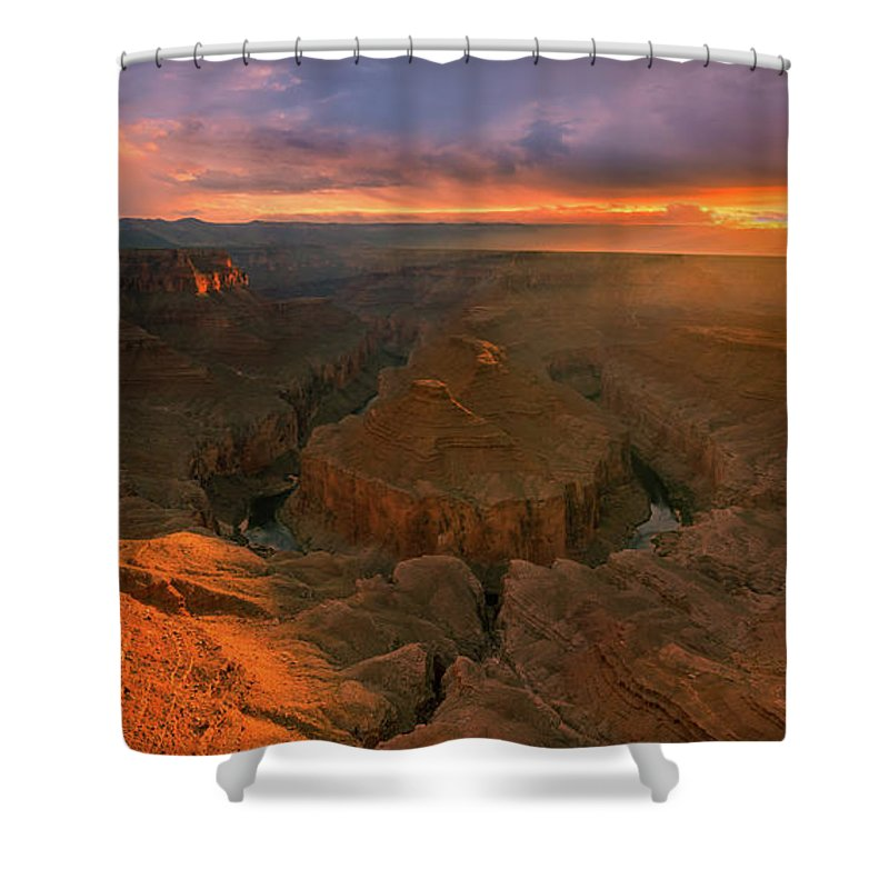 American Shower Curtain Featuring The Photograph Tatahatso Point Arizona By Henk Meijer Photography