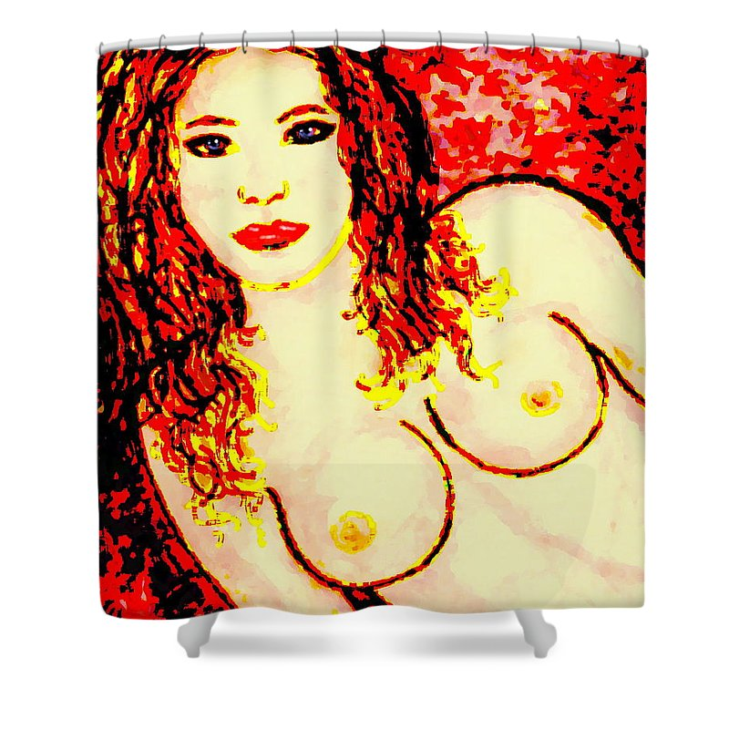 Female Shower Curtain featuring the painting Tatiana by Natalie Holland