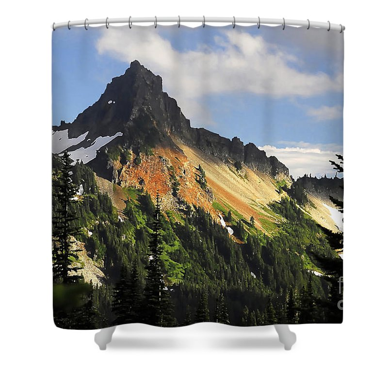 Mountains Shower Curtain featuring the photograph Tatosh Range by David Lee Thompson