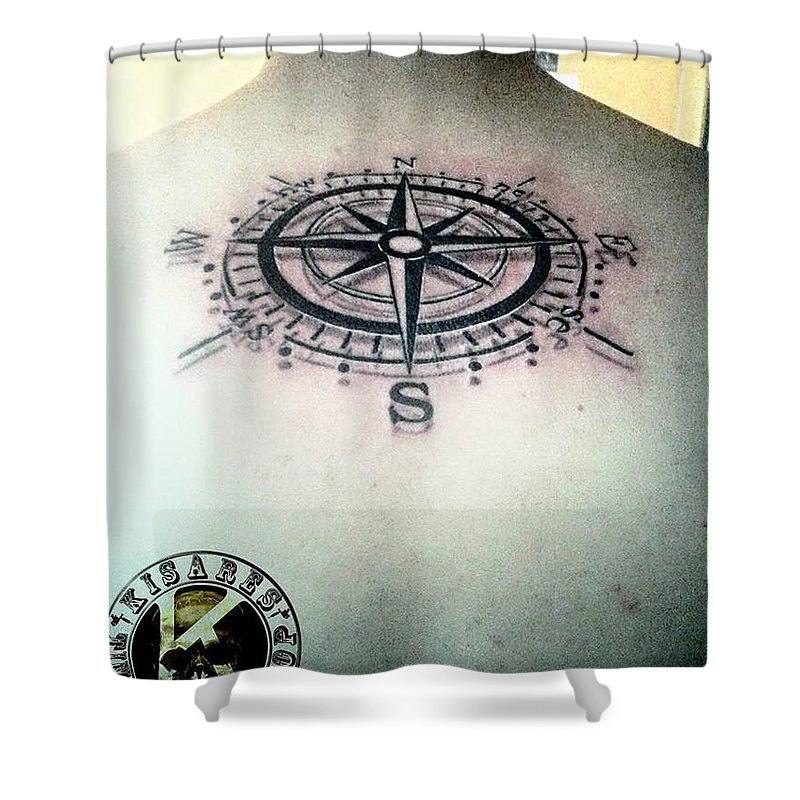 Shower Curtain featuring the photograph Tattoo by Kim Estanil