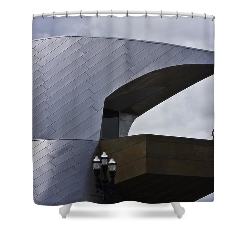 Roanoke Shower Curtain featuring the photograph Taubman Ledge Sculpture Roanoke Virginia by Teresa Mucha