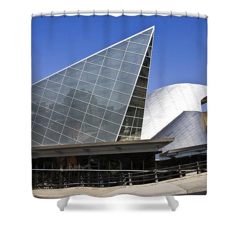 Roanoke Shower Curtain featuring the photograph Taubman Museum Of Art Roanoke Virginia by Teresa Mucha