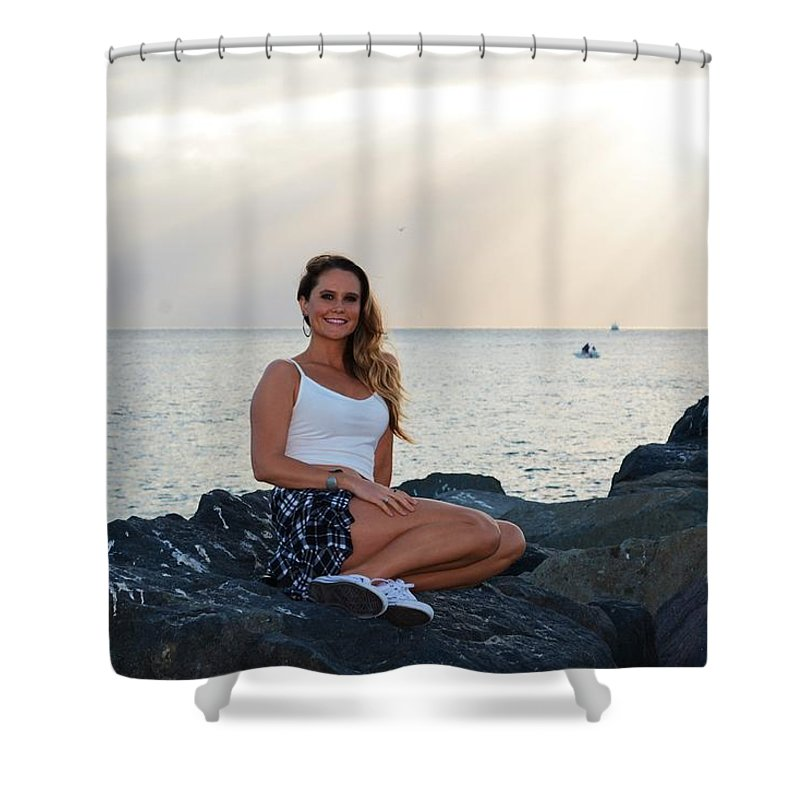 Fashion Shower Curtain featuring the photograph Taylor 027 by Remegio Dalisay
