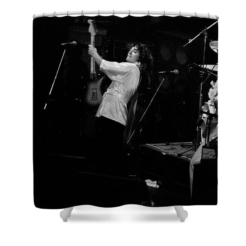 Tommy Bolin Shower Curtain featuring the photograph Tb76#12 by Ben Upham
