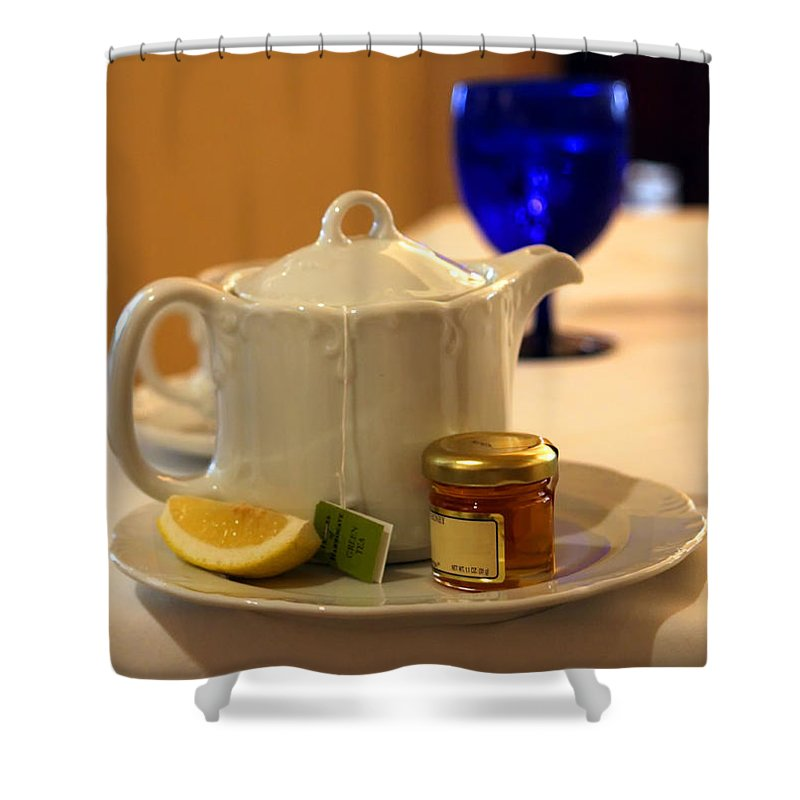 Tea Shower Curtain featuring the photograph Tea At The Ritz by Madeline Ellis