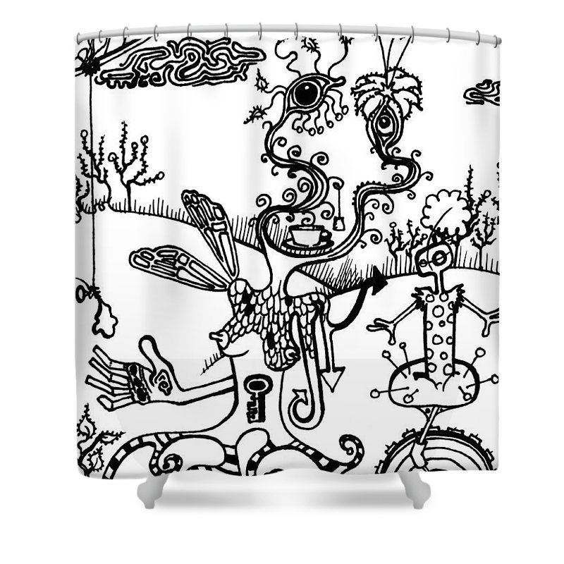 Tea Shower Curtain featuring the painting Tea In The Sahara by Kelly Jade King
