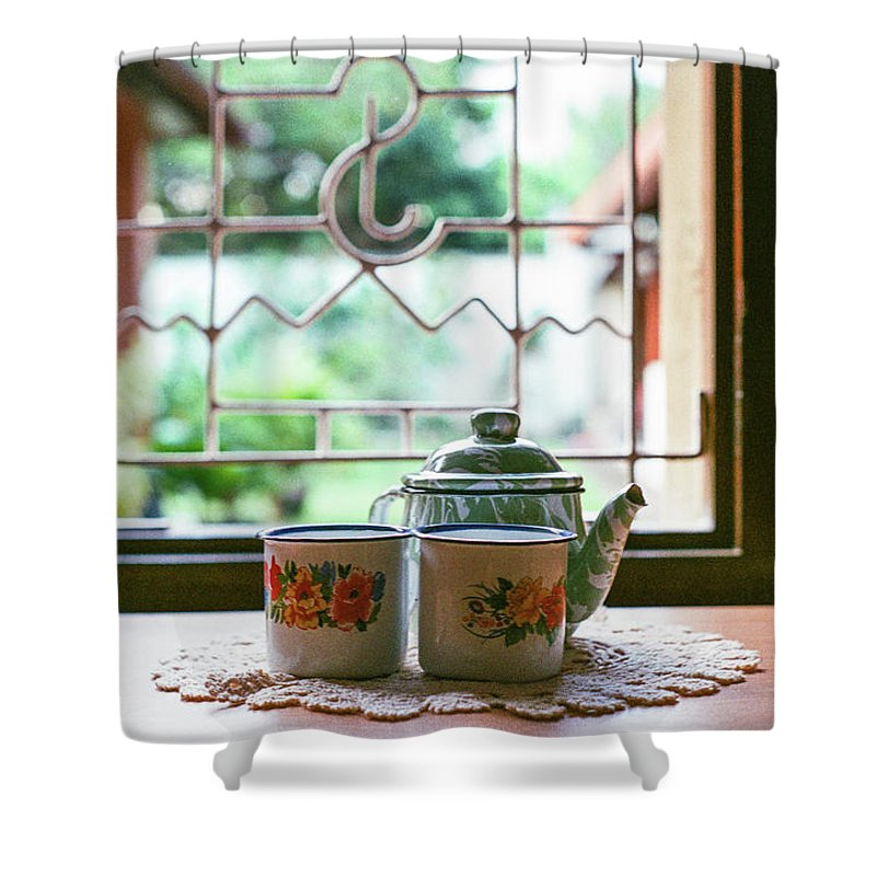 Tea Shower Curtain featuring the photograph Tea Time by Briana M