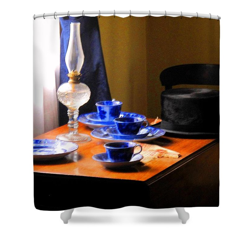 Plate Shower Curtain featuring the photograph Tea Time Composition by Ian MacDonald