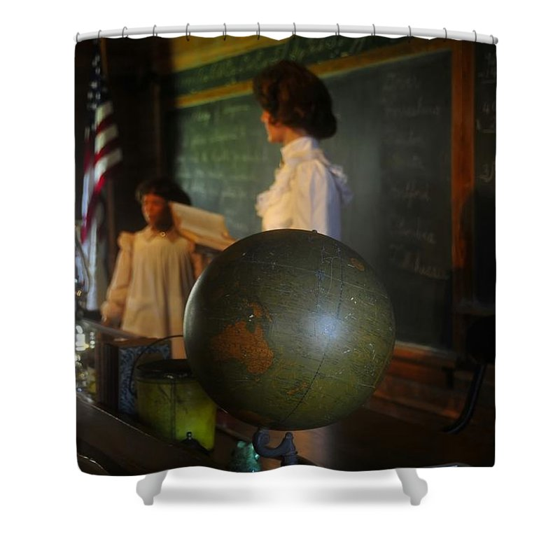 1800s Shower Curtain featuring the photograph Teaching Globe by David Lee Thompson