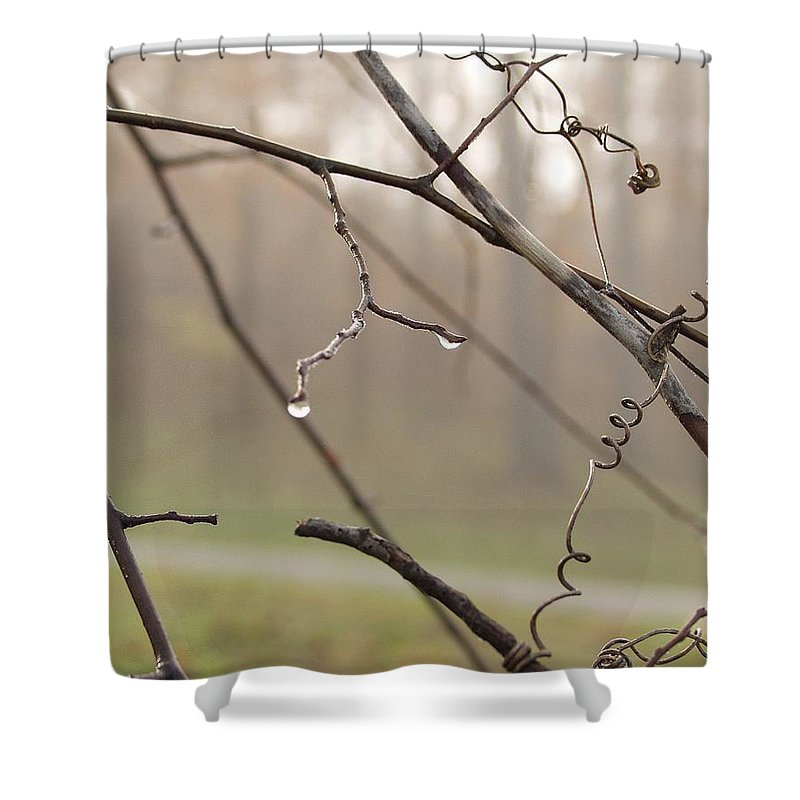 Landscape Shower Curtain featuring the photograph Teardrops by Carol Sweetwood