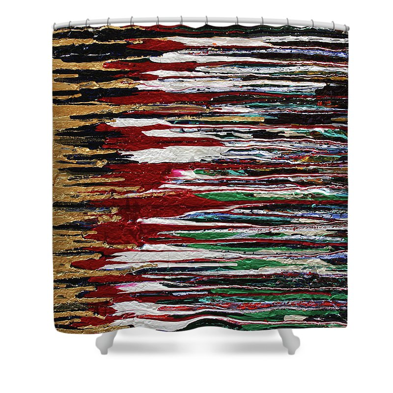 Fusionart Shower Curtain featuring the painting Tears Of The Sun by Ralph White