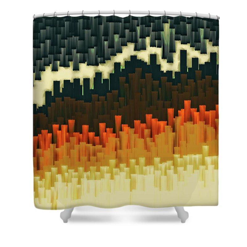 Teeth Shower Curtain featuring the digital art Teeth 030517 by Matt Lindley