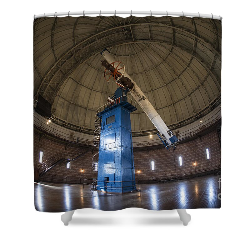 Telescope Shower Curtain featuring the photograph Telescope At Yerkes by David Bearden