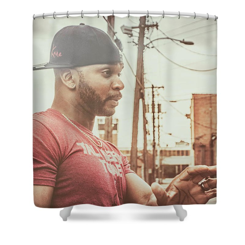 Kyzer Shower Curtain featuring the photograph Tell Em About The Book by Kyzer Kane
