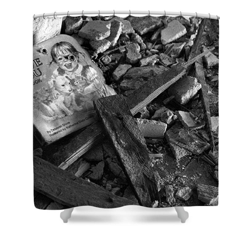 Dark Art Shower Curtain featuring the photograph Tell Me A Story by Peter Piatt