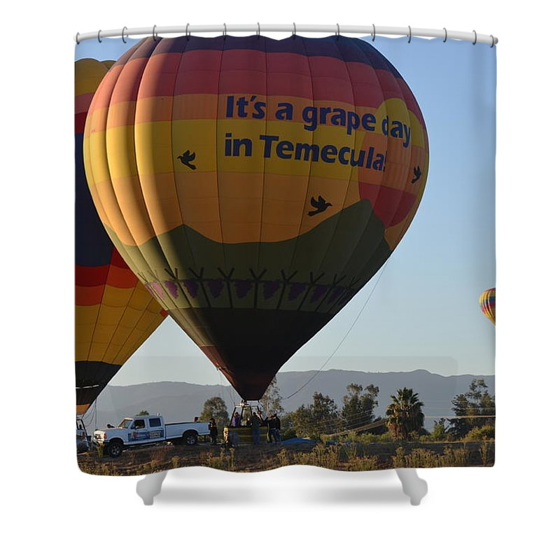 Temecula Wine Country Shower Curtain featuring the photograph Temecula Wine Country by Christine Owens