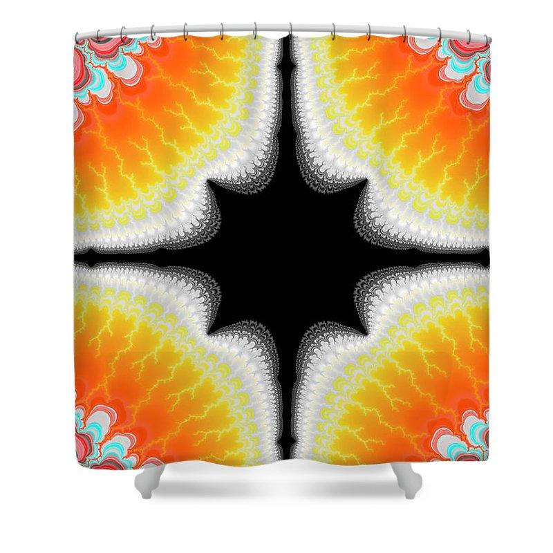 Fractal Shower Curtain featuring the digital art Fractal 7 2x3 by Daniel George