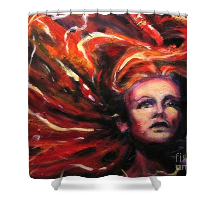Bright Shower Curtain featuring the painting Tempest by Jason Reinhardt
