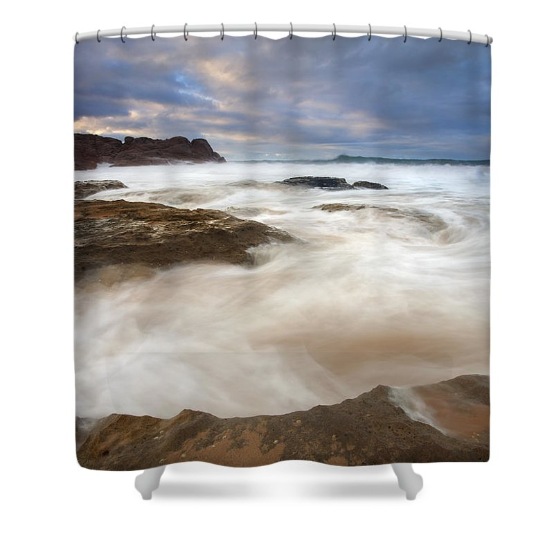 Bowl Shower Curtain featuring the photograph Tempestuous Sea by Mike Dawson