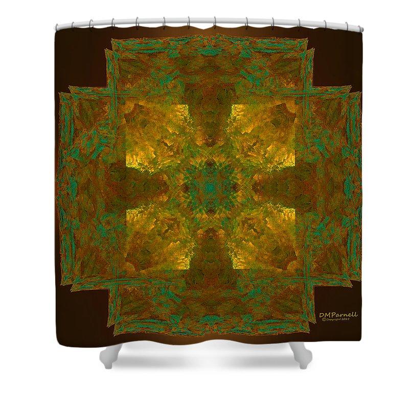 Cross Shower Curtain featuring the digital art Templar Cross by Diane Parnell