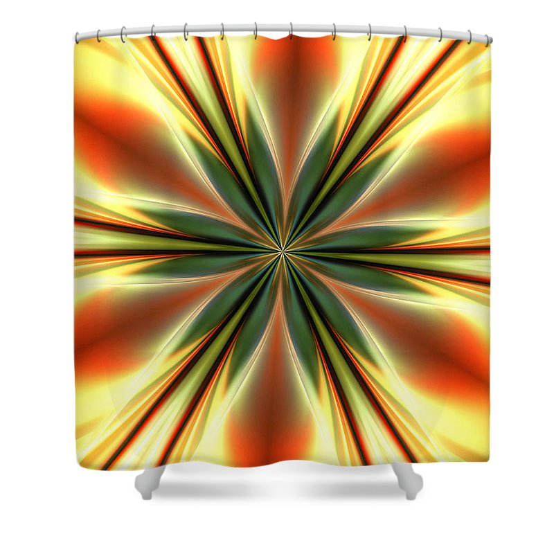 Fine Art Shower Curtain featuring the digital art Ten Minute Art 9 by David Lane