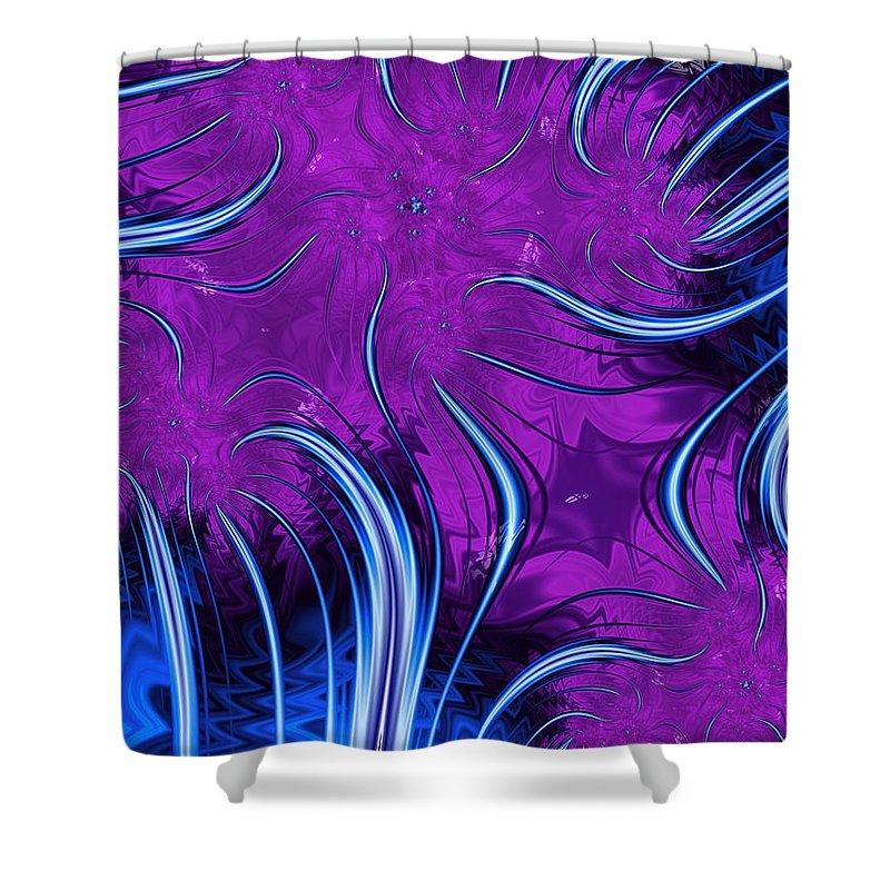 Tendrils Shower Curtain featuring the digital art Tendrils Through The Mists Of Time by John Edwards