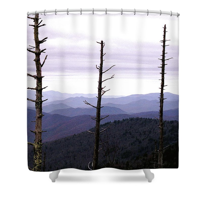 Tennessee Shower Curtain featuring the photograph Tennessee Mountains by Michael Peychich