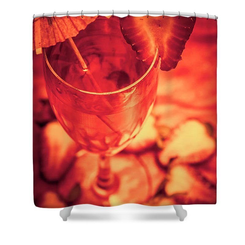 Cocktail Shower Curtain featuring the photograph Tequila Sunrise Cocktail by Jorgo Photography - Wall Art Gallery