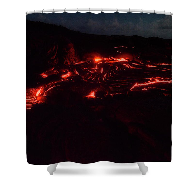 Hawaii Shower Curtain featuring the photograph Terraced Flow by Jim Thompson