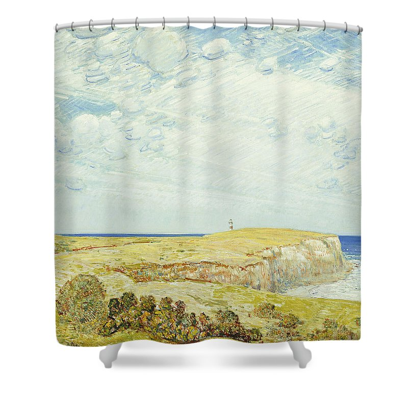 Montauk Shower Curtain featuring the painting Montauk Point, 1922 by Childe Hassam