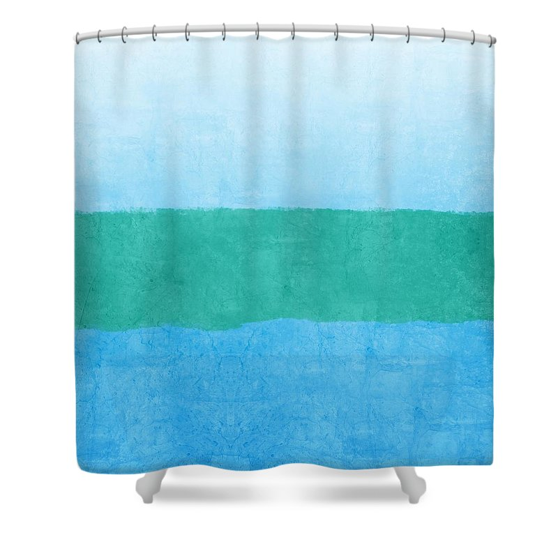 Blue Shower Curtain featuring the photograph Test by Linda Woods