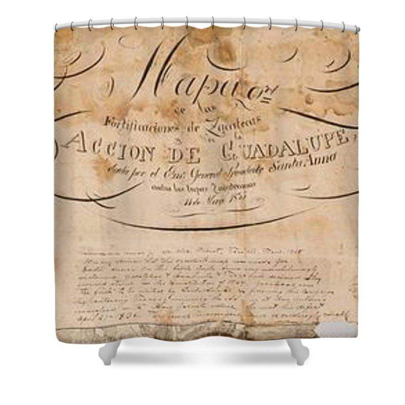 Map Of Texas 1835.Texas Revolution Santa Anna 1835 Map For The Battle Of San Jacinto Shower Curtain