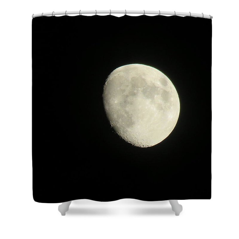 Moon Shower Curtain featuring the photograph Textured Moon by Brenda Dowell