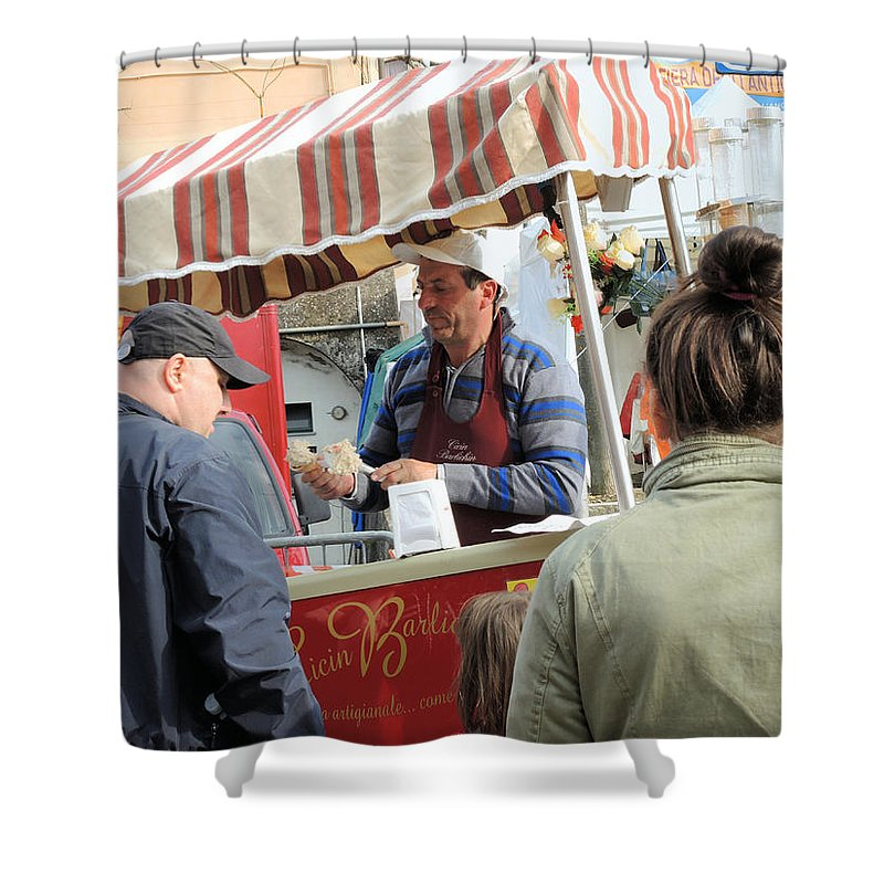 Fair Shower Curtain featuring the photograph Tha Fair Of The Old Trades 2 by Guido Strambio