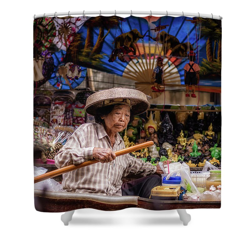 Exotic Shower Curtain featuring the photograph Thai Lifestyle1 by Jijo George